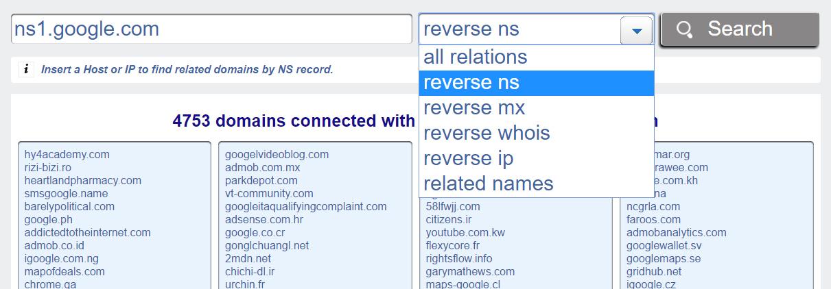 Reverse NS